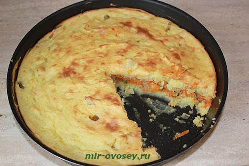 Картофельная запеканка с морковью Из картошки