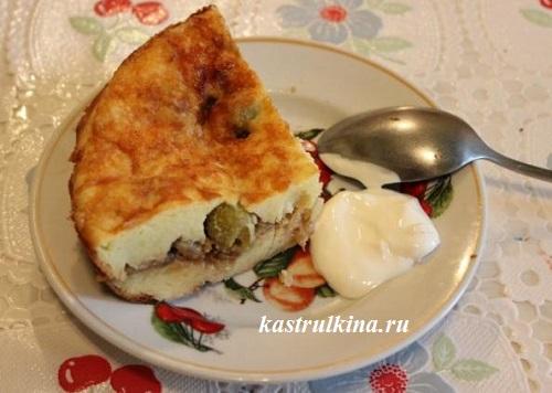 Картофельная запеканка с оливками Из картошки