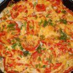 Картофельная запеканка с помидорами и шампиньонами Из картошки