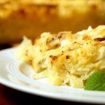 Картофельная запеканка с сельдереем и зубаткой Из картошки