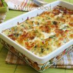 Картофельная запеканка с сыром и кусочками лосося Из картошки