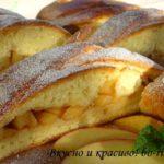 Картофельное печенье с яблоками Из картошки