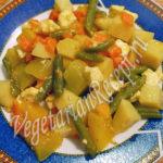 Картофельное сабджи с фасолью Из картошки