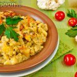 Картофельное сабджи с горошком Из картошки