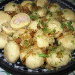 Картофельные кнедлики с луком Из картошки