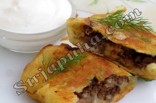 Картофельные пирожки с грибами Выпечка Пирожки