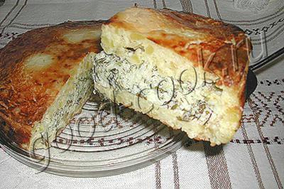 Картофельный пирог с брынзой Из картошки