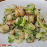 Картофельный салат с баклажанами Из картошки