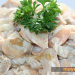 Картофельный салат с белой фасолью и шампиньонами Из картошки
