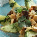 Картофельный салат с чесноком Из картошки