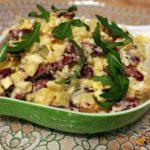 Картофельный салат с красной фасолью Из картошки
