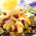 Картофельный салат с красной фасолью и яблоками Из картошки