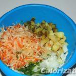 Картофельный салат с квашеной капустой и солеными огурцами Из картошки