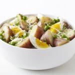 Картофельный салат с яйцами и сливками Из картошки