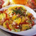 Картофельный салат со сладким перцем Из картошки