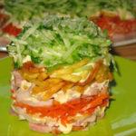 Картофельный слоеный салат Из картошки