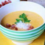 Картофельный суп-пюре с беконом Из картошки