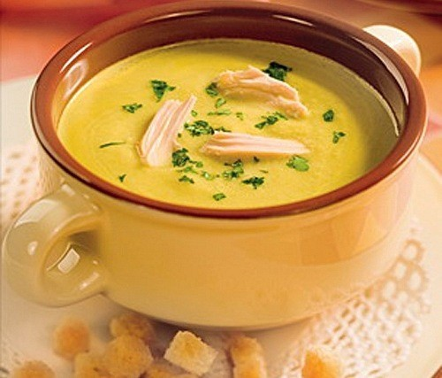 Картофельный суп-пюре с фасолью