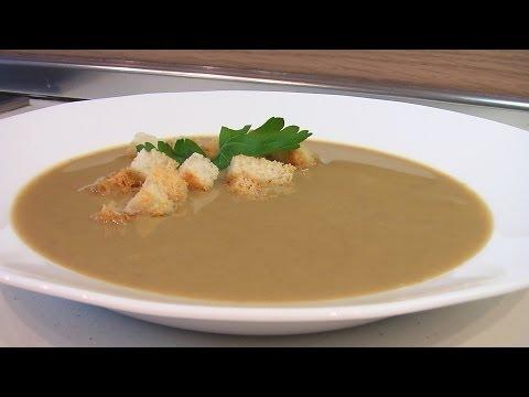 Картофельный суп-пюре с говяжьей печенью и морковью