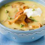 Картофельный суп-пюре с лисичками на молоке Из картошки