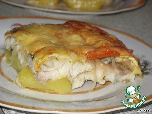 Картофельный суп-пюре с морским языком