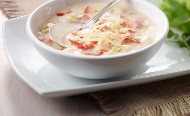 Картофельный суп-пюре с ветчиной