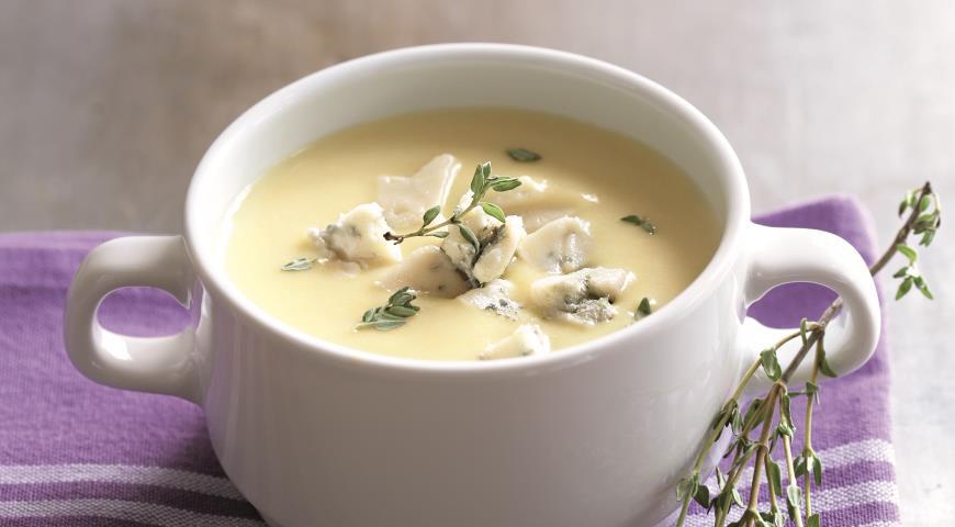 Картофельный суп с брынзой