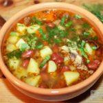 Картофельный суп с фасолью Из картошки
