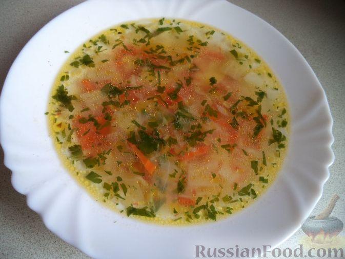 Картофельный суп с капустой и помидорами