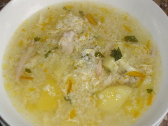 Картофельный суп с пшеном Из картошки