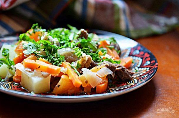 Кавурдок (жаркое из баранины с овощами)