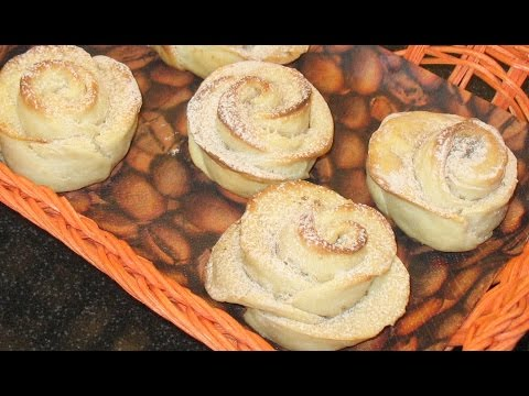 Кефирные булочки с корицей