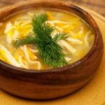 Кеспе с мясом (суп) Казахская кухня