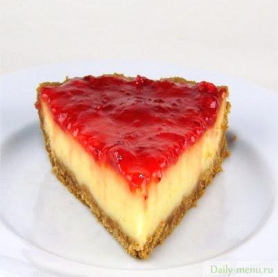 Клубнично-творожный пирог