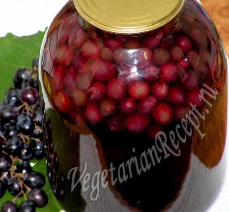 Компот из винограда Заготовки, консервирование