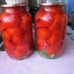 Консервированные половинки томатов Заготовки, консервирование