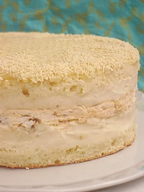 Коньячный торт с меренгами