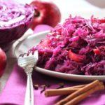 Краснокочанная капуста с яблоками Из капусты Из овощей