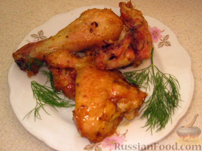 Курица под маринадом, запеченная в кляре
