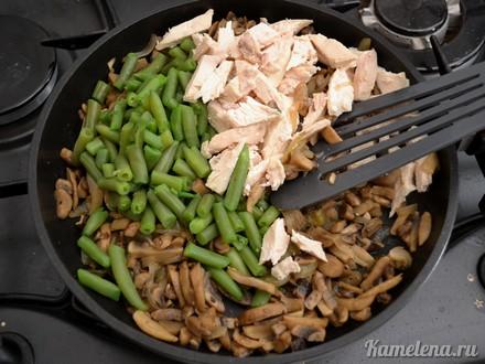 Куриное филе с зеленой фасолью Итальянская кухня