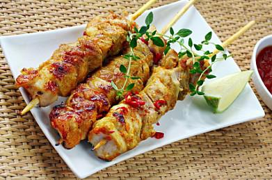Куриные шашлыки с лаймом Вторые блюда Шашлыки