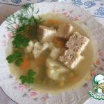 Куриный суп с паштетом Немецкая кухня