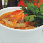 Кюфта-шурпа (суп с горохом, овощами и мясными сардельками) Супы Туркменская кухня