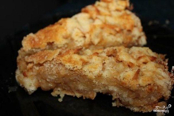 Ленивый пирог с яблоками Русская кухня