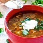 Летний грибной суп Супы