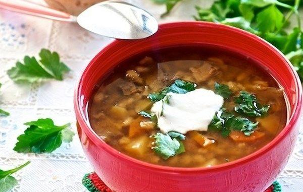 Летний грибной суп