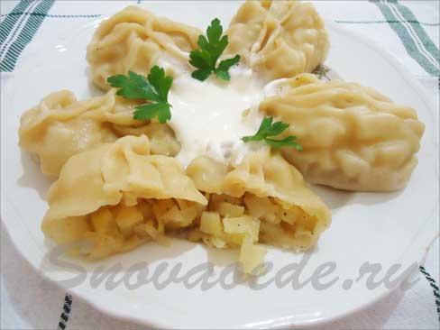 Манты с картофелем Из картошки