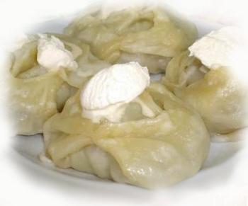 Манты с начинкой из консервированных сардин Вторые блюда Манты