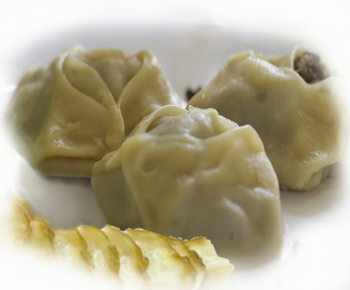 Манты с начинкой из рыбы по-киргизски