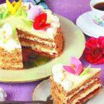 Масляный торт «С днем рождения!» Выпечка Торты